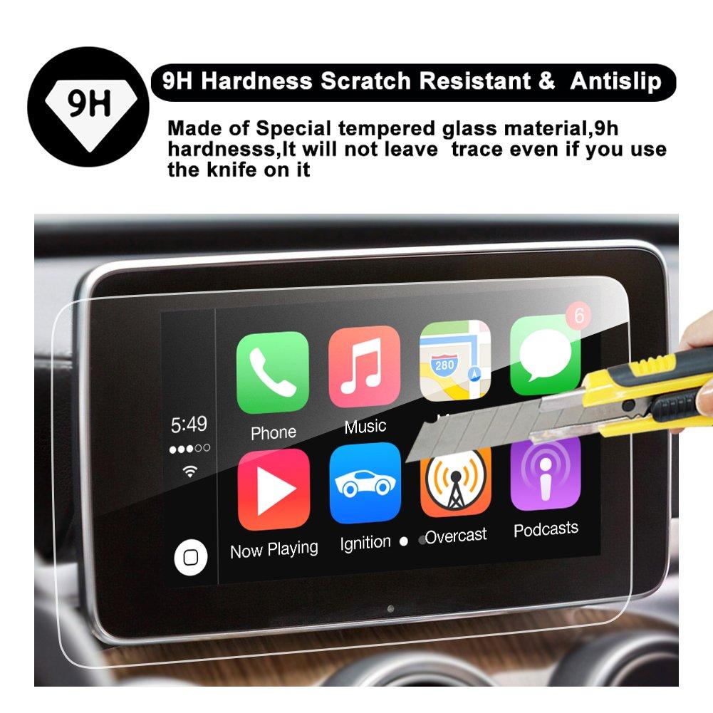2016 2017 Mercedes-Benz GLC Class X253 GLC 300 AMG GLC 43 Touch Screen Car Display Navigation Screen Protector GLC 8/'/' R RUIYA HD Clear TEMPERED GLASS Protective Film 8-Inch