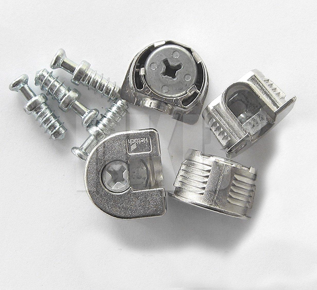 HKB ® 16 Stück Exzenter Verbindungsbeschlag VB 35/16, ø 20 mm, Zinkdruckguss vernickelt, Hersteller Hettich, Artikel-Nr. 9130274