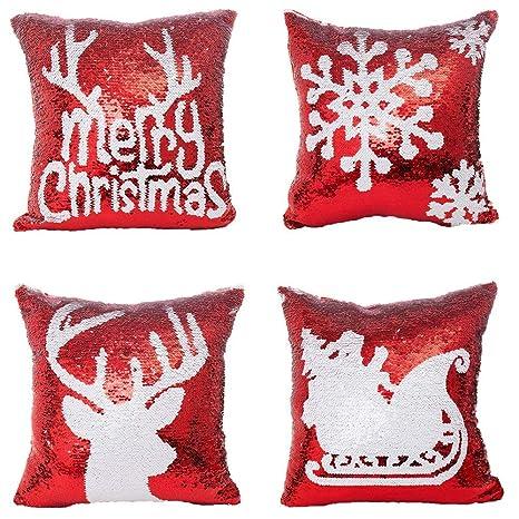 Amazon.com: Xiaowli Fundas de Almohada de Navidad, Almohada ...