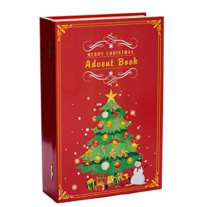 kurt adler d3045 11 wooden christmas advent calendar book - Wooden Christmas Advent Calendar