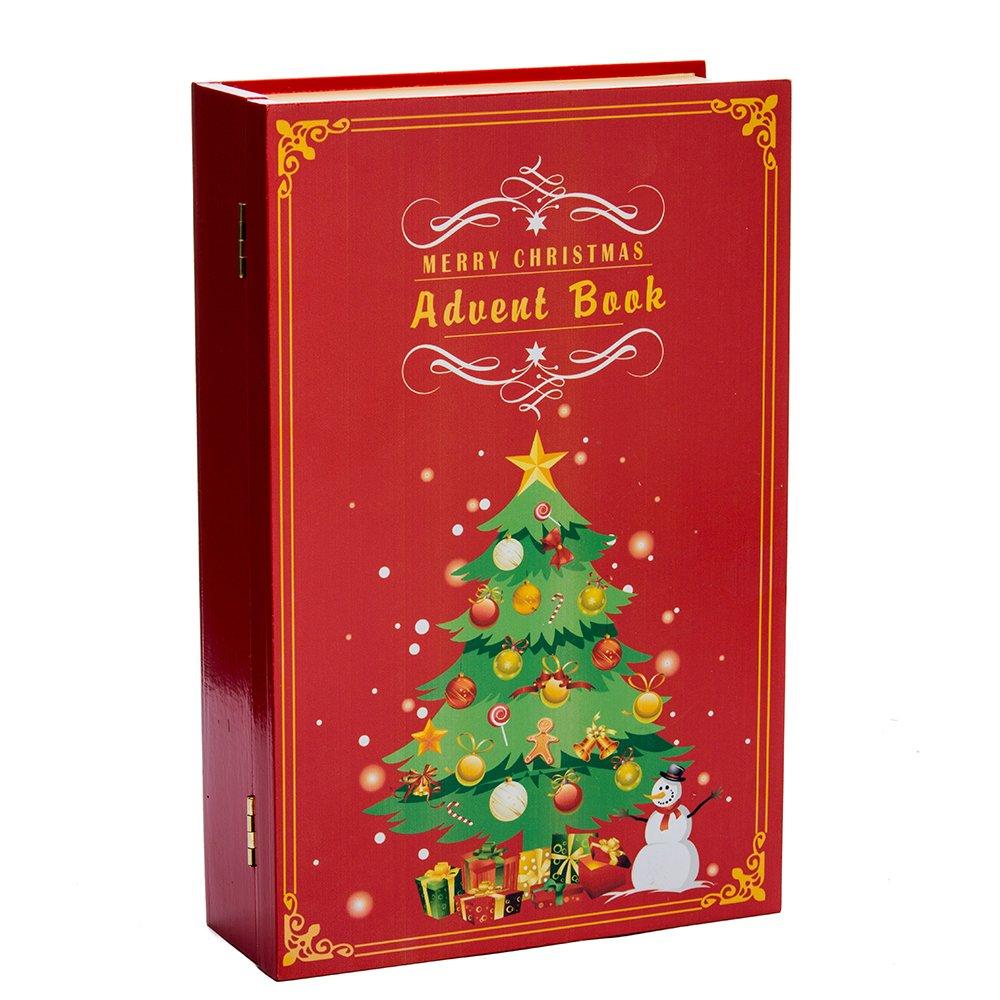 Kurt Adler D3045 11'' Wooden Christmas Advent Calendar Book