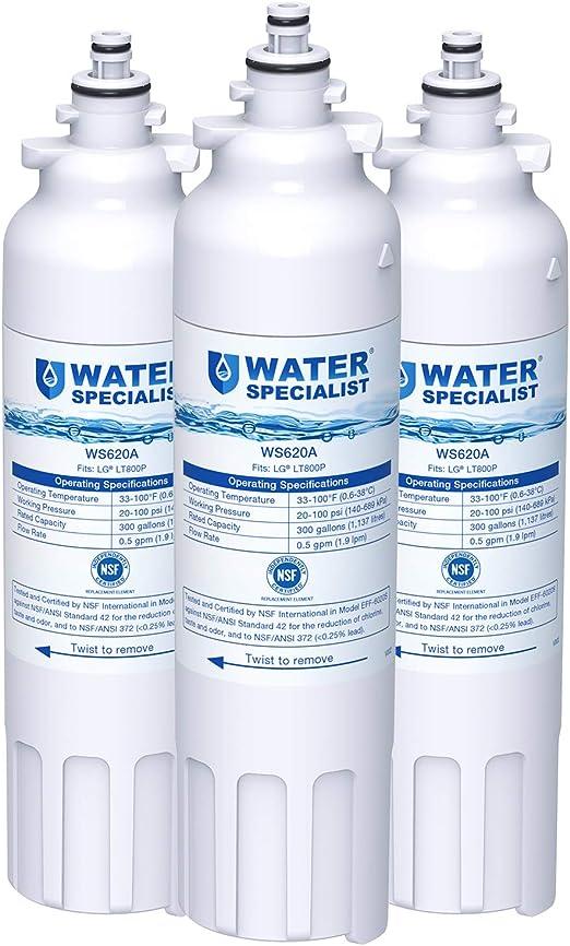 Genuine OEM LG LT800P ADQ73613401 Premium Replacement Refrigerator Water Filter