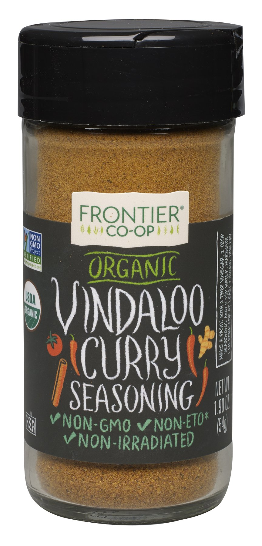 Frontier Organic Seasoning, Vindaloo, 1.9 Ounce