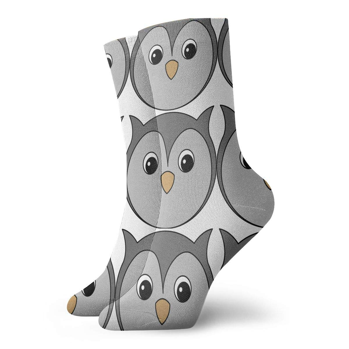 Unisex Cute And Tender Owl Athletic Quarter Ankle Print Breathable Hiking Running Socks