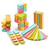 Tegu 52 Piece Original Magnetic Wooden Block Set, Tints