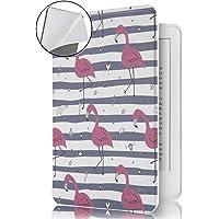 Capa Novo Kindle 10a. Geração Wb - Ultra Leve Auto Hibernação Sensor Magnético Silicone Flexível Flamingos