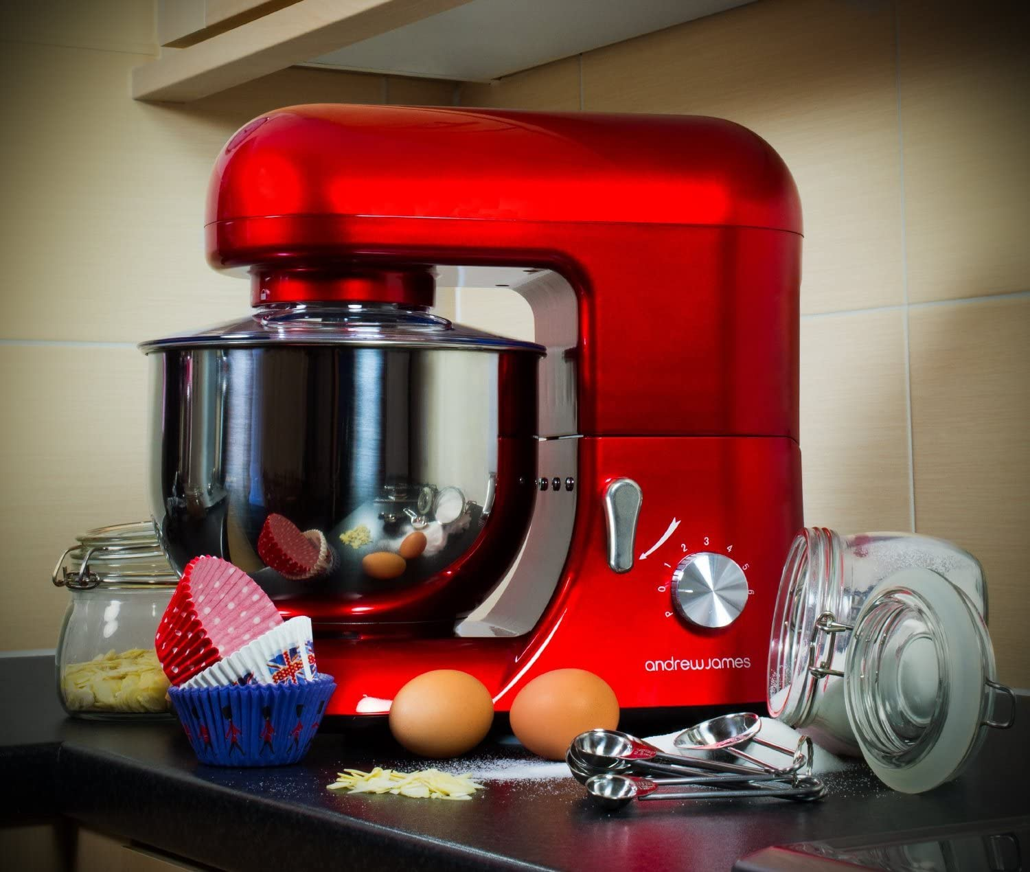 Andrew-James-Red-Stand-Mixer