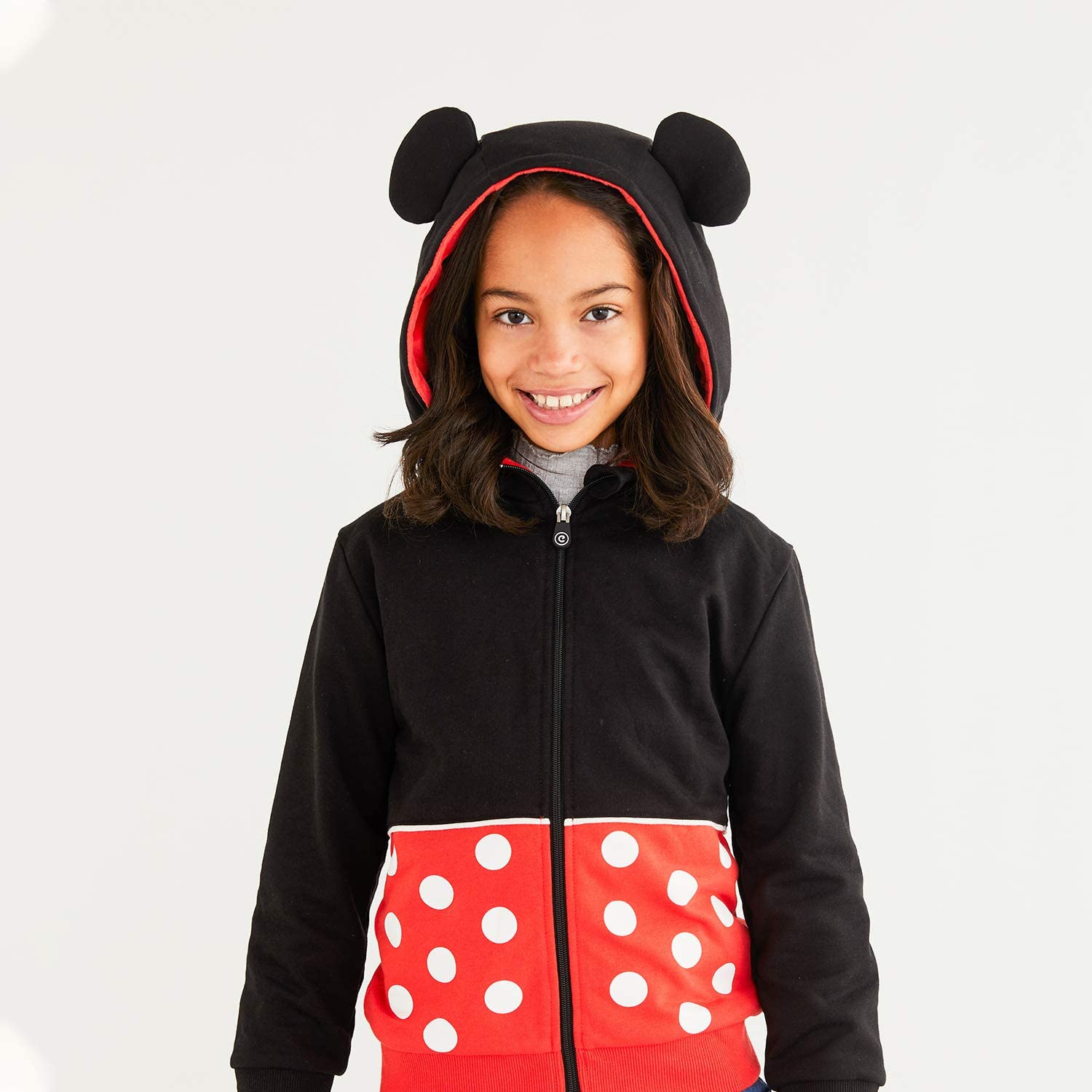 CUBCOATS Minnie Mouse Red and Black 2-in-1 Transforming Hoodie and Soft Plushie