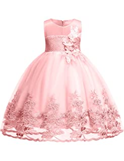 d8e88c7ef Amazon.com  Girl s Elegant Lace Tea Length Flower Girl Party Holiday ...