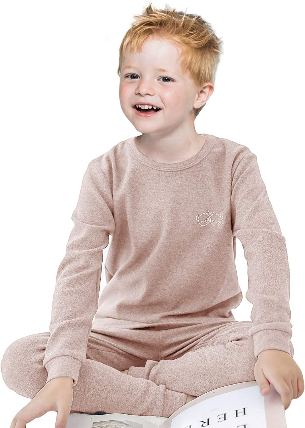 Cotton Long Johns for Boys Thermal Underwear Sets Kids Base Layer Warm Bushed Little Big Boys Long Sleeve Pajama Sets