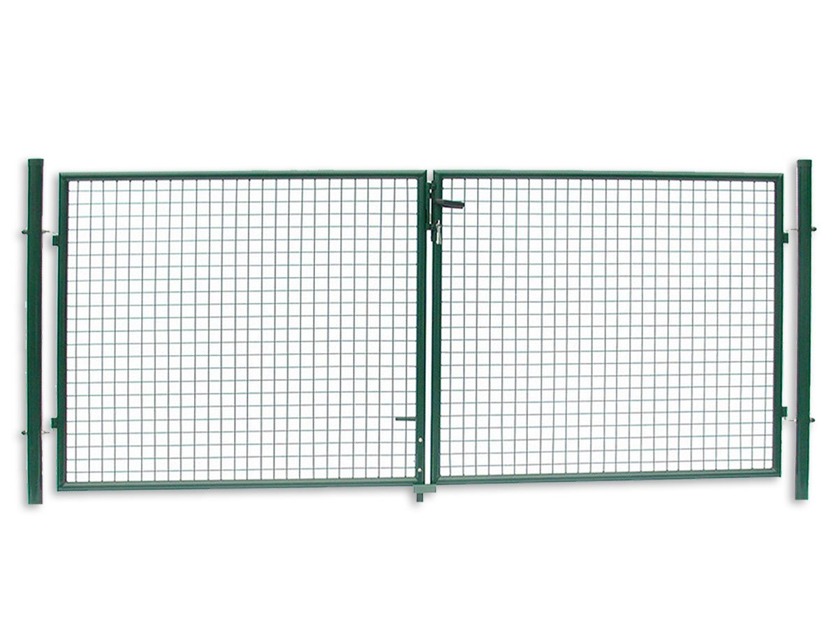 GAH Alberts Wellengitter-Tor Gartentor GRÜN Höhe 100 x Breite 100 cm  Ø 60 mm