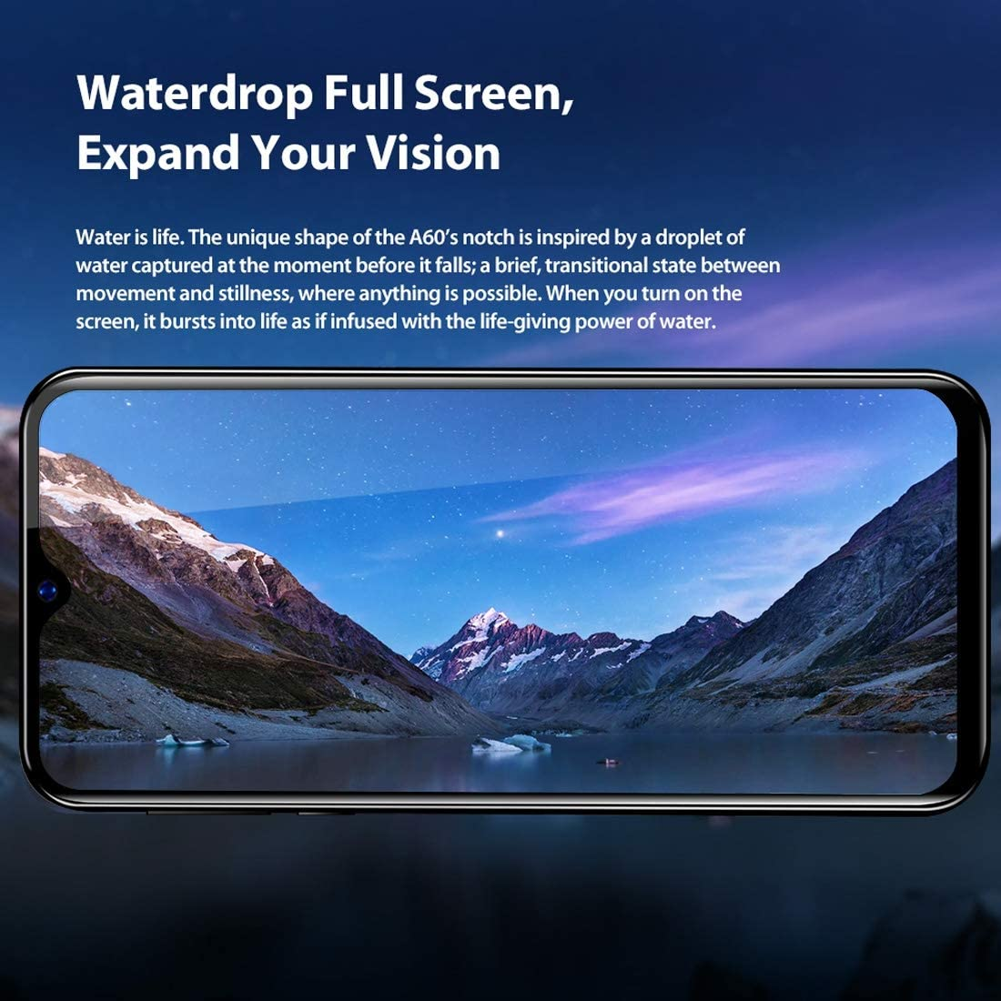 Color : Black 4080mAh Battery 6.1 inch Android 8.1 GO MTK6580A Quad Core up to 1.3GHz Dual Rear Cameras Dual SIM ZhiYuan Blackview A60 1GB+16GB Network: 3G