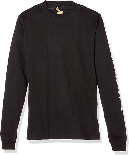 TALLA M. Carhartt Signature Logo Long-Sleeve T-Shirt Hombre