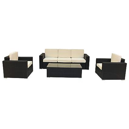 Surprising Amazon Com Luxury Living Furniture 6 Piece Espresso Outdoor Bralicious Painted Fabric Chair Ideas Braliciousco