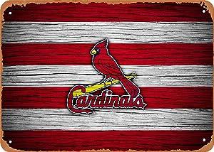 Mirace Metal Sign - Baseball St Louis Cardinals - 8 x 12 Vintage Look Tin Plate