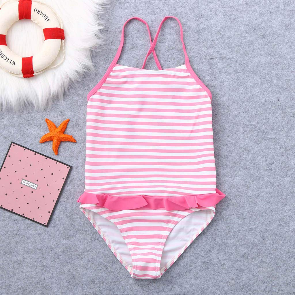 Kids Racer Back Swimsuit Voberry@ One Piece Bathing Suits for Girls