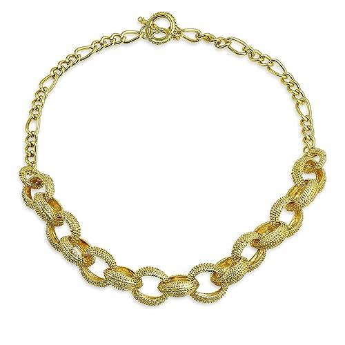 cc726936f8536 Amazon.com: Bling Jewelry Large Round Chain Link Fashion Statement ...
