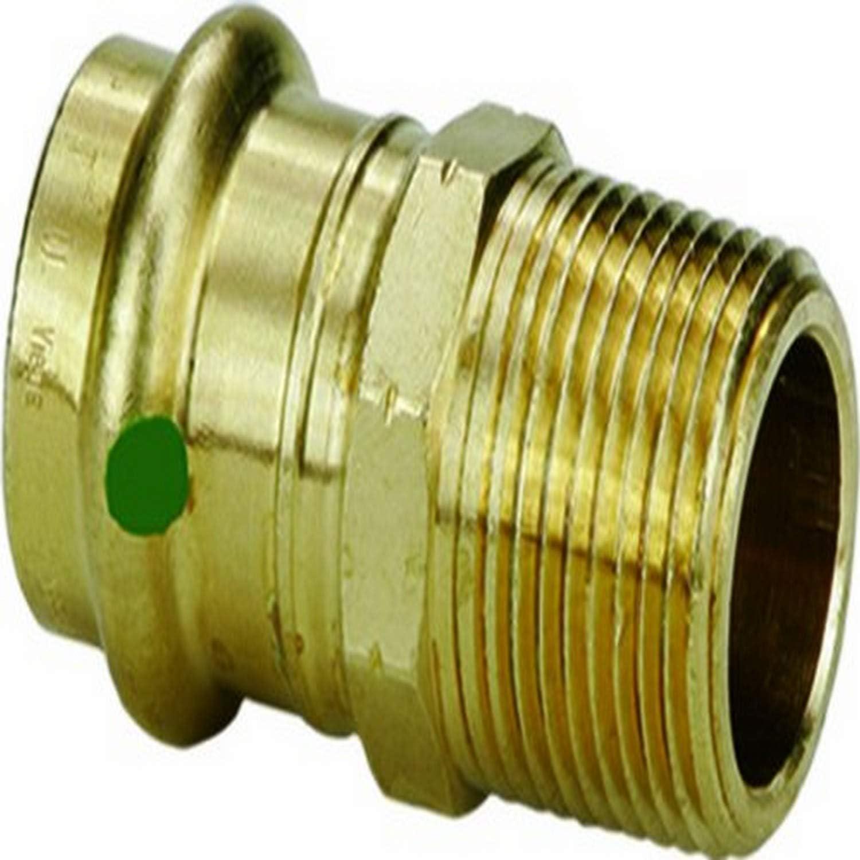 Viega 79230 ProPress Zero Lead Bronze Adapter with Male 3//4-Inch by 3//4-Inch P x Male NPT 10-Pack Viega PEX