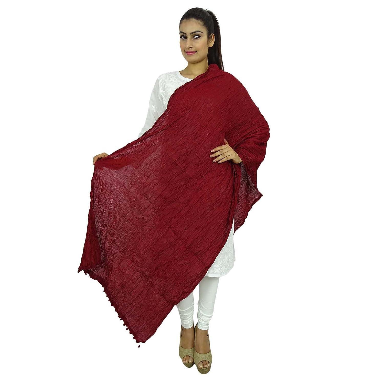 Long Dupatta Cotton Stole Neck Wrap Indian Chunni Scarf Throw Wih Border ibaexports