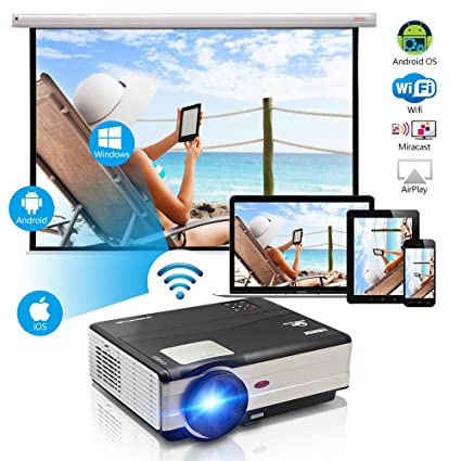 Amazon.com: WIKISH Video Projector 3500 Lumens Android 200\