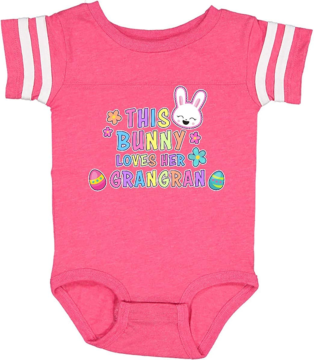 inktastic This Bunny Loves Her Grangran with Bunny Face and Infant Creeper