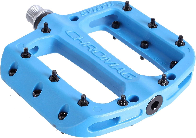 Chromag Synth Pedale MTB//Cycle//VAE//E-Bike 110 x 107 mm Erwachsene Unisex Blau