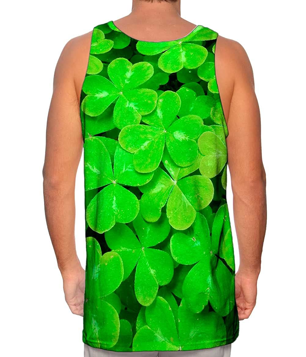 Mens Tank Top St Patrick Four Leaf Clover Yizzam Tshirt