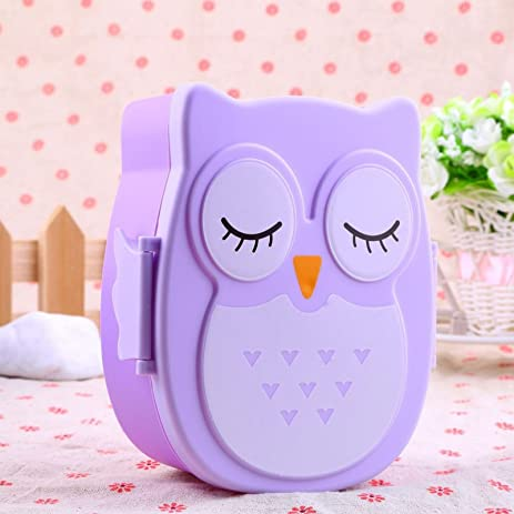 Cartoon Owl Tableware Food Fruit Storage Container Portable Bento Box Food-safe Food Outdoor C&ing  sc 1 st  Amazon.com & Amazon.com: Cartoon Owl Tableware Food Fruit Storage Container ...