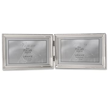 Amazoncom Lawrence Frames Polished Silver Plate 4x6 Hinged Double