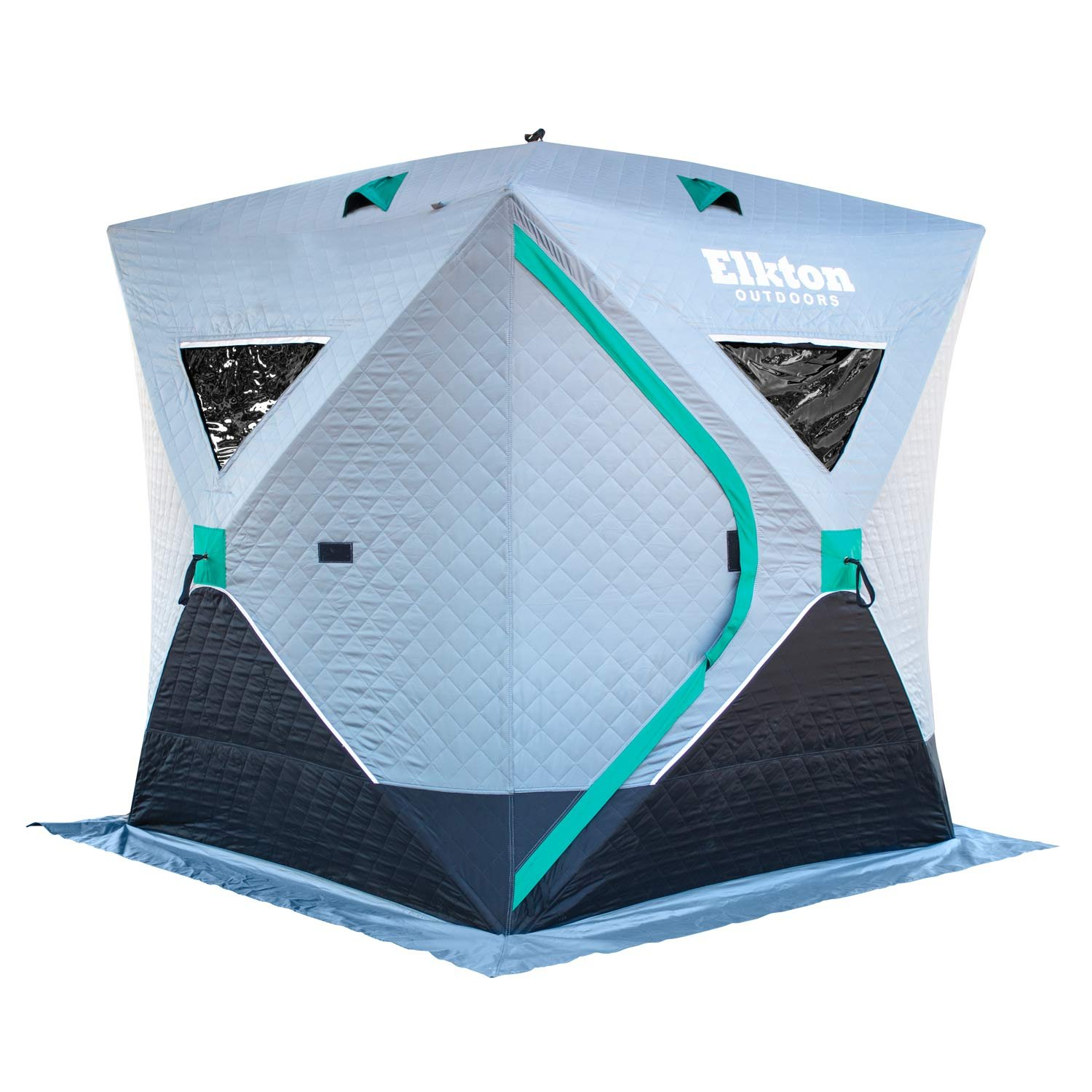 Elkton Outdoors Insulated Portable 3-Person Insulated Ice Fishing Tent With Ventilation Windows & Carry Pack: Ice Fishing Shelter Includes Tent, Carry Pack, Ice Anchors & Storage Compartments! by Elkton Outdoors