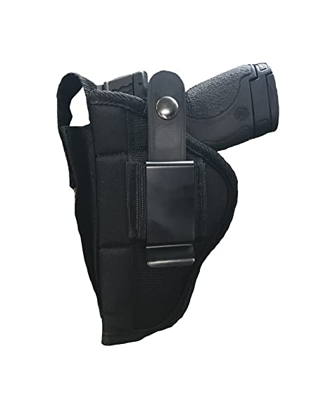 Nylon Belt or Clip on Gun Holster Fits HI-Point C-9, CF-380: 9MM