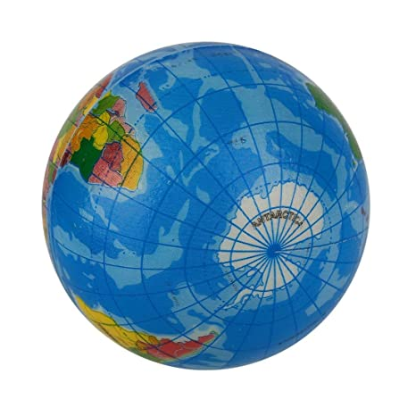 vbncvbfghfgh Mapa del Mundo Azul Espuma Globo terráqueo ...