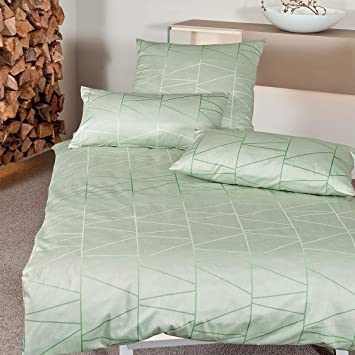 11821a3be0 Janine Design Interlock Feinjersey Bettwäsche Carmen 53067-06 milchgrün  155x220 cm + 80x80 cm