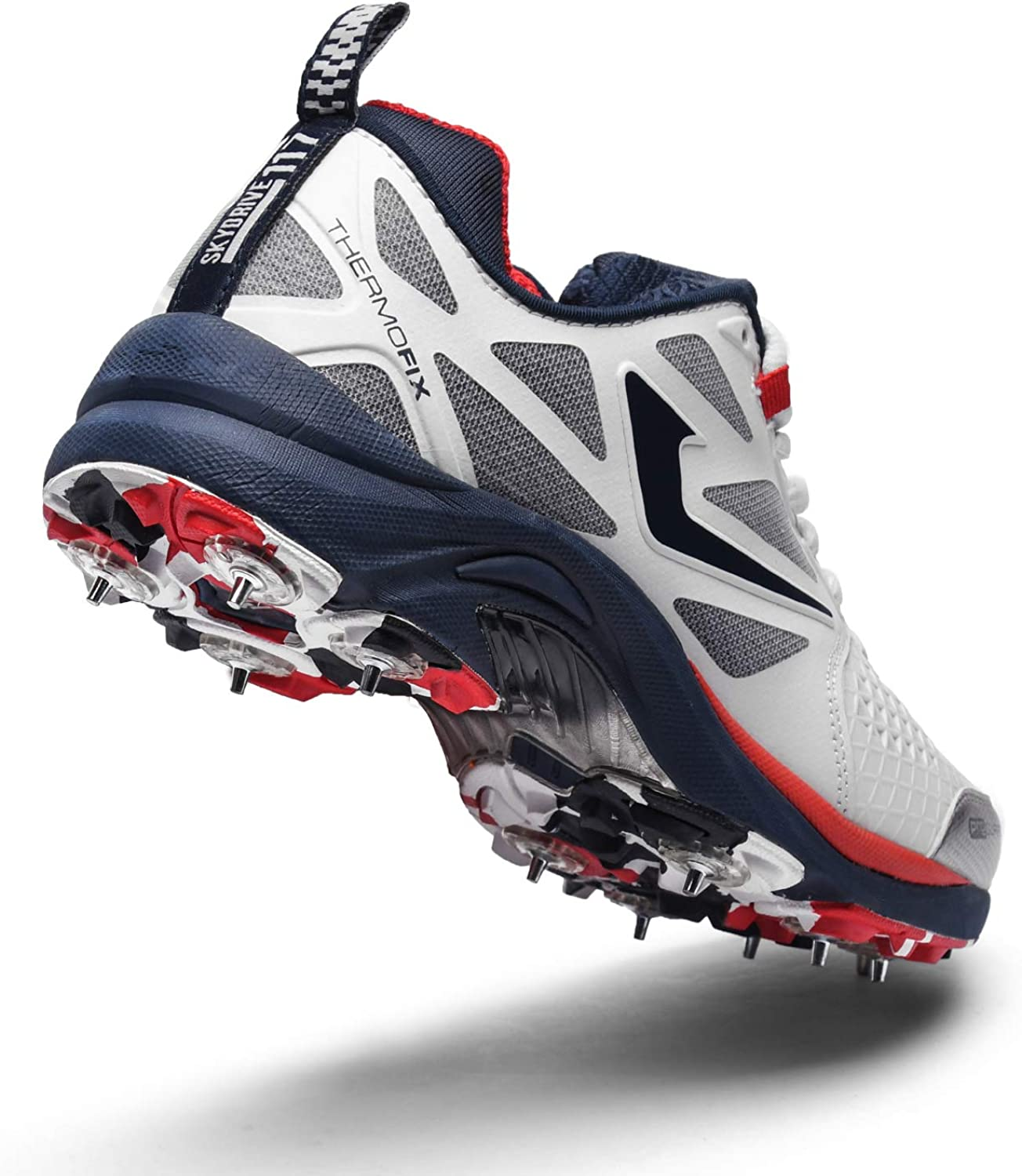 Lightweight Convertible Full and Half Spike Shoes for Batting Bowling Fielding and All Round Performance Jazba SKYDRIVE 117 Cricket Spike Shoe for Men Women