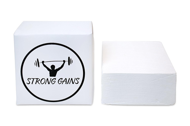 Magnesia bloque 56 Talla Gym Chalk Para El entrenamiento de la Fuerza, escalada, gimnasia, disponible en diferentes pieza Números, color weiß, ...