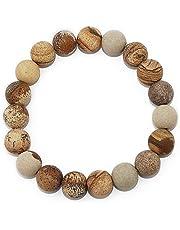 POMINA 10mm Semi Precious Stone Beaded Stretch Bracelets