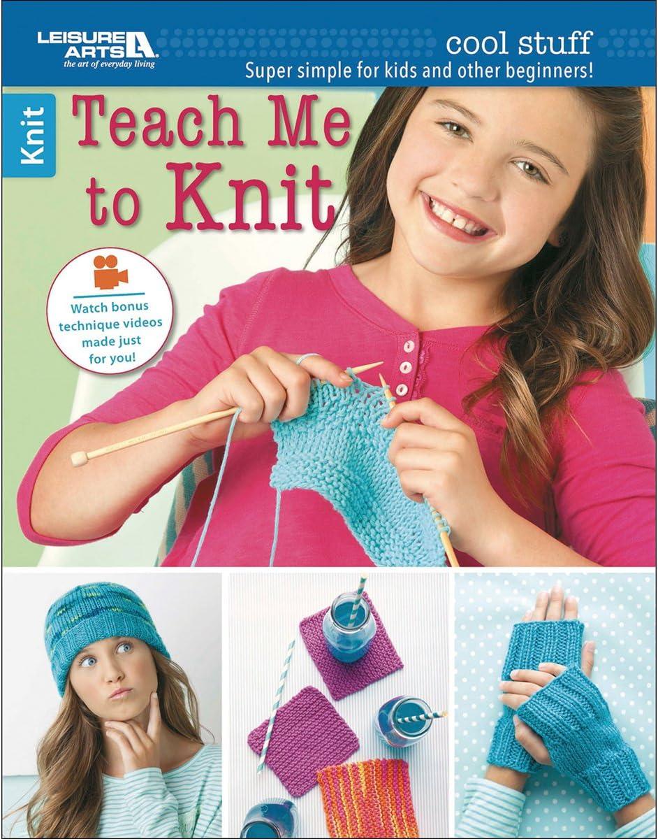 Leisure Arts 6648 Cool Stuff Teach Me to Knit Art Work Book