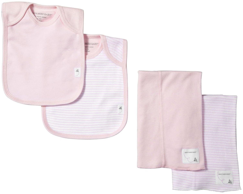 1168d21d8 Amazon.com  Burt s Bees Baby Baby Bibs   Burp Cloths Set - Blossom ...
