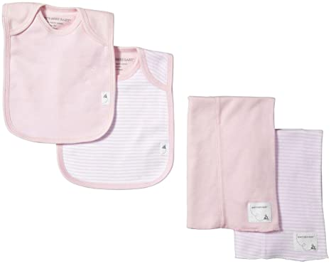 bb90e1510 Amazon.com: Burt's Bees Baby Baby Bibs & Burp Cloths Set - Blossom ...