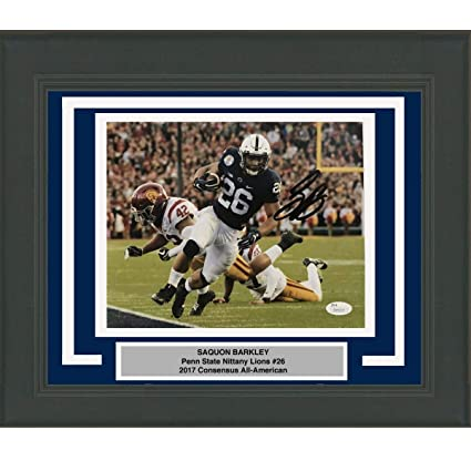 9043eb5d5 Framed Autographed Signed Saquon Barkley Penn State Nittany Lions 8x10  College Football Photo JSA COA