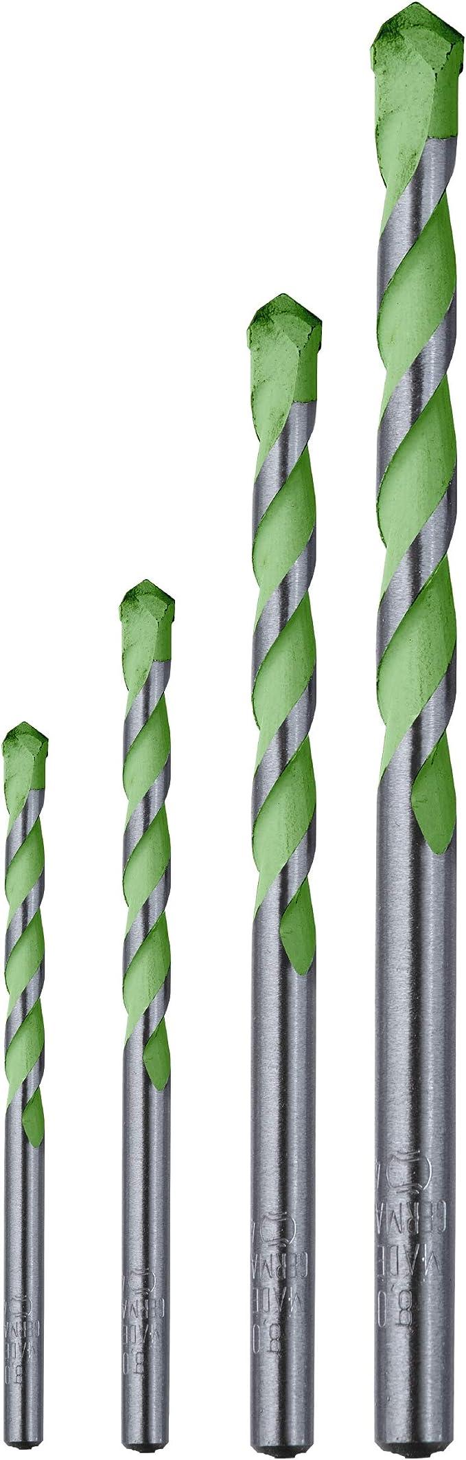/Ø 5-10 mm 4 teiliges Steinbohrer-Set diamantgeschliffen kwb AKKU TOP Hardcut Granitbohrer-Kassette Made in Germany