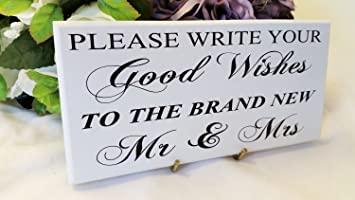 Amazon Com Restore2a Wedding Sign Plaque Please Write Your Good
