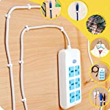 Darller 200 Pack Nail in Cable Clips Ethernet Cable Nails Tacks Clips 7mm for Cat6 Cable - White