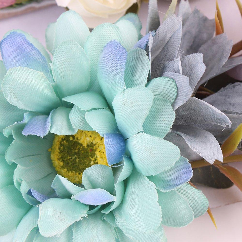 641ba3566 Baby Girl Headband Handmade Boho Artificial Flower Headband Soft ...