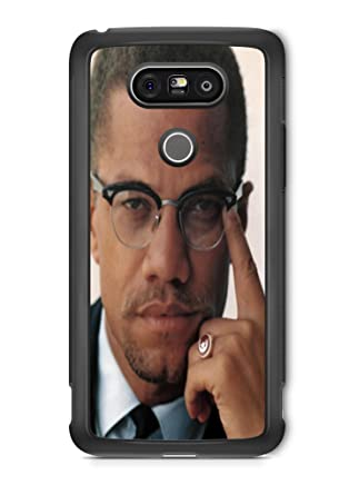 amazon com lg g5 malcolm x color photo protective rubber phone case
