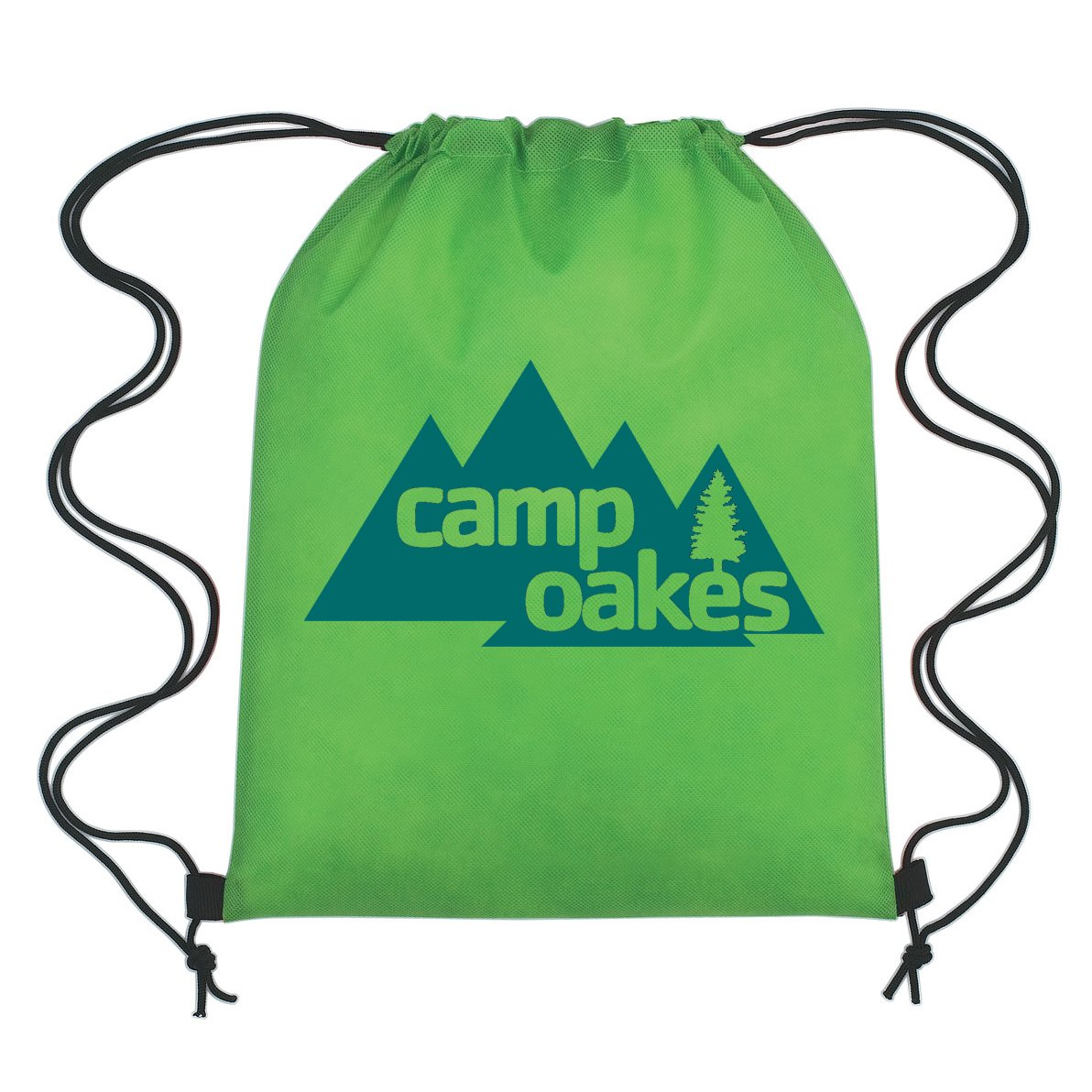 Lime Non-Woven Drawstring Backpacks - 150 Quantity - PROMOTIONAL PRODUCT / BRANDED / BULK / CUSTOMIZED W/ YOUR LOGO - Lime by PrintGlobe