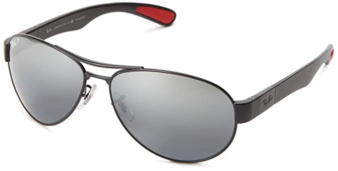 6b09f9652c Image Unavailable. Image not available for. Colour  Ray-Ban RB3509 - MATTE  BLACK Frame POLAR GREY MIRROR SILVER GRAD.