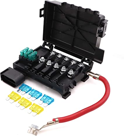 [DIAGRAM_0HG]  Amazon.com: Battery Fuse Box Block Terminal 1J0937550 with 9pcs fuses  compatible with 99-04 VW beetle Jetta Bora Golf MK4: Automotive | Fuse Block Box For 99 Vw New Beetle |  | Amazon.com