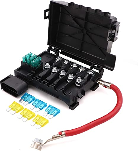 Battery Fuse Box Block Terminal 1J0937550 with 9pcs fuses for 99-04 on jetta alternator, jetta door panel, jetta cam sensor, jetta motor mount, jetta bumper guard, jetta trailing arm, jetta hood release, jetta sway bar, jetta loaded beam axle, jetta console, jetta fuse tool, jetta slave cylinder, jetta catalytic converter, jetta fuse card, jetta battery, jetta firing order, jetta relay box, jetta sportwagen 2011 fuse diagram, jetta shifter cable, jetta cigarette lighter fuse,