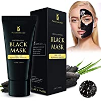 Piero Lorenzo Blackhead Remover Mask, Best Valentine's Day Gifts  - Purifying Quality Mask Best Mud Facial Mask Bamboo Charcoal Deep Cleansing Purifying Acne Blackhead Peel-off Mask 60g